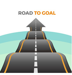 Road to goal abstract way from asphalt vector