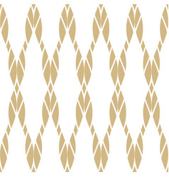 seamless pattern with golden ropes vector image