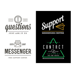 set support contact center service elements vector image