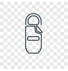 sleeping bag concept linear icon isolated on vector image