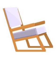 Soft picnic chair icon cartoon patio vector