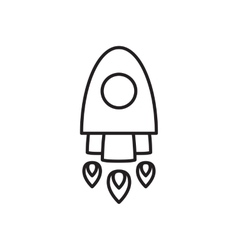 Space rocket icon vector image