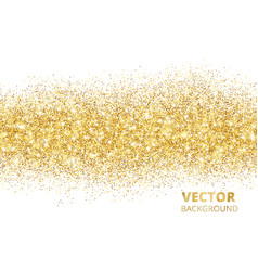 Sparkling glitter border isolated on white vector
