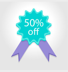 special offer sale 50off price tag vector image