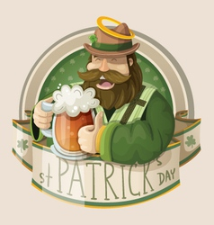 St patrick day card vector