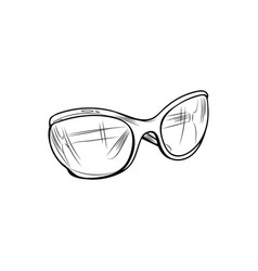 summer glasses hand drawn vector image