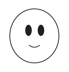 Thin line smile emoticon icon vector