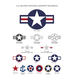 Us military national aircraft star roundels vector
