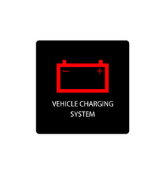 warning dashboard car icon vehicle charging system vector image