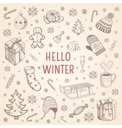 Welcome winter background vector