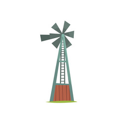 wind water pump traditional construction for vector image
