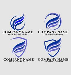 wing logos vector image