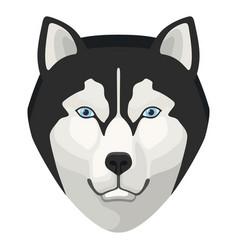 Wolf head icon wildlife nature beautiful animal vector