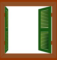 Wooden window vector