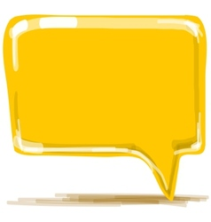 Yellow speech bubble cartoon vector image