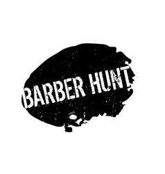 Barber hunt rubber stamp vector