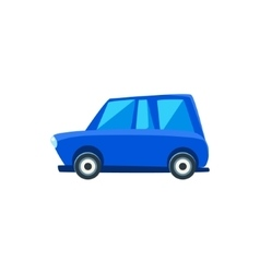 Blue Family Toy Cute Car Icon vector image