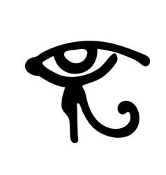egyptian eye of horus symbol religion and myths vector image