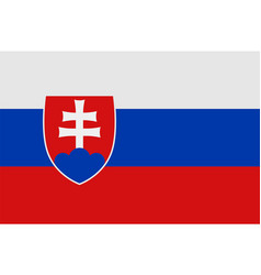 national symbol of slovakia flag vector image vector image