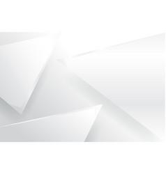 triangle white backgroundgrayblack vector image vector image
