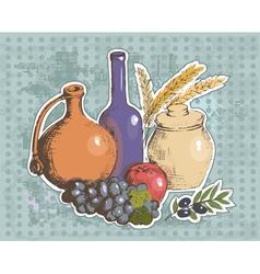 art vegetables8 vector image vector image