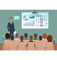 Business professional work team meeting Man speaks vector image