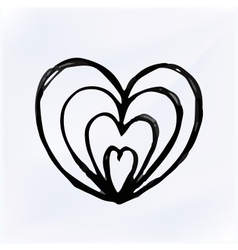 doodle Heart Isolated hand drawn vector image