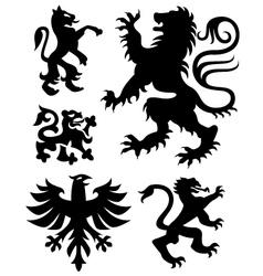 Eagle crest sign vector
