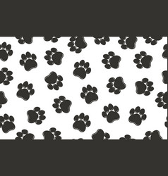 paw prints pattern vector image vector image