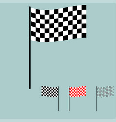 racing flag black and white colour vector image