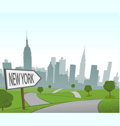 road to new york vector image vector image