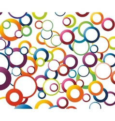 abstract background with rainbow colored circles vector image vector image