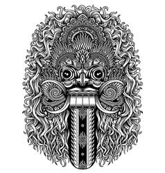 Balinese Demon Mask vector image