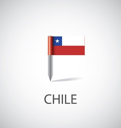 chile flag pin vector image