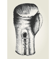 Sketch of a boxing glove vector image