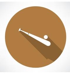 Baseball and baseball bat vector image
