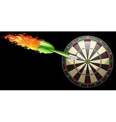 Flaming dart and board vector image
