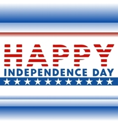 Happy American independence day vector image vector image