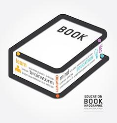 infographics book design diagram line vector image vector image