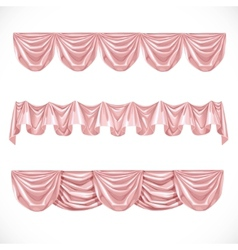 Pink pelmet isolated on a white background vector image vector image