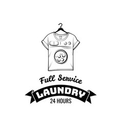 t-shirt machine concept laundry and dry cleaning vector image vector image