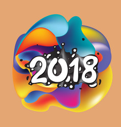 2021 new year on background a colorful vector