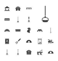 22 farming icons vector