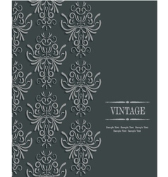 3d Vintage Wedding or Invitation Card with Floral vector image