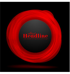 Abstract red black circle background vector