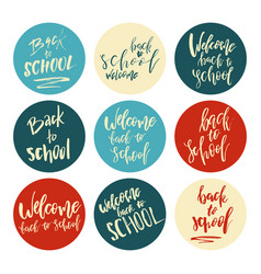 back to school typography set - vintage style vector image