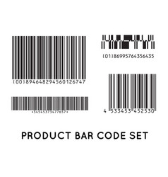 Bar code icon set of modern flat barcode can be vector