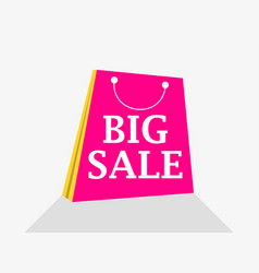 big sale shopping packet flat style with shadow vector image