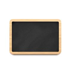 black blank horizontal chalkboard vector image