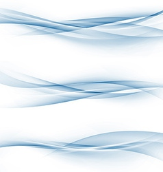 Blue swoosh speed abstract modern web divider set vector